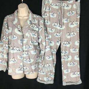 Munki Munki Flannel 2 PC Pajamas PJ SET